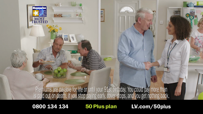 "Loco-Creates ""Surround Yourself"" TVCs for LV= Over 50s Life Insurance"