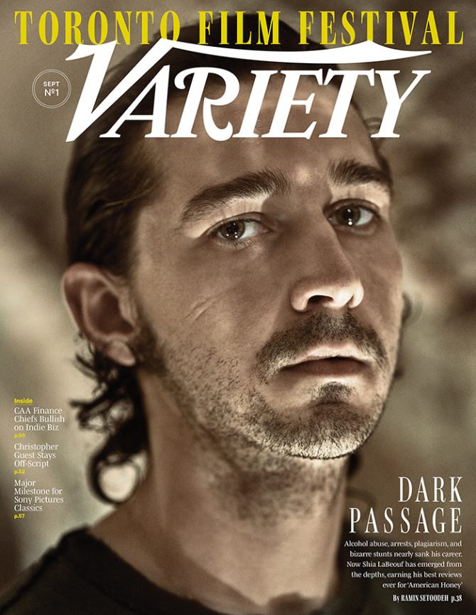 SHIA LABEOUF | Variety Cover