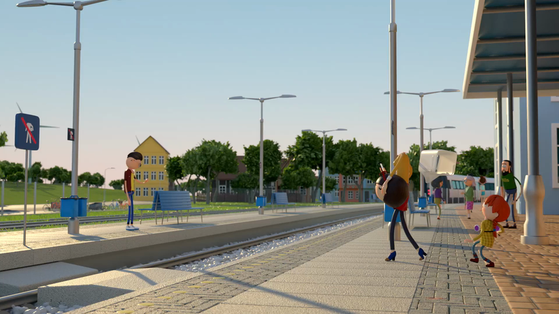 Do not be Headless! CG animation for DSB. Film 4