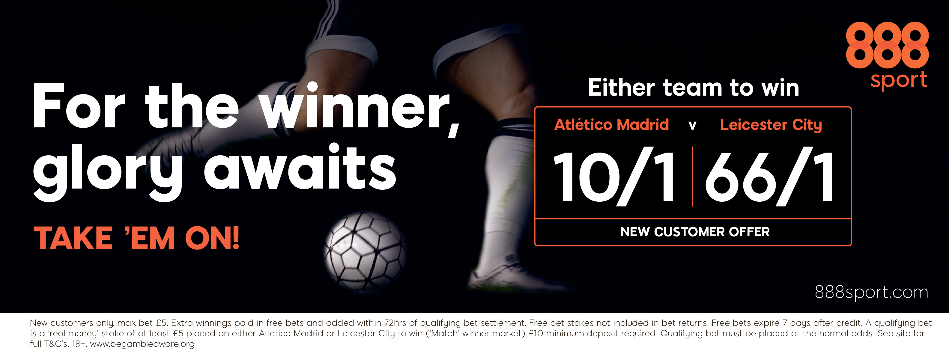 888sport Take 'Em On:  Atletico Madrid vs Leicester City