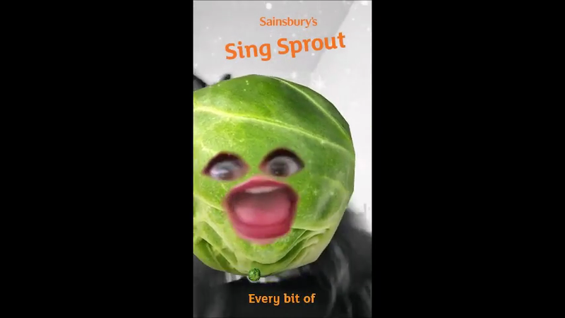 Singing Sprout Snapchat Lens
