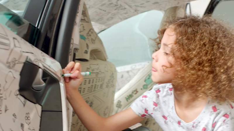 Introducing the World's First Colouring-In Car