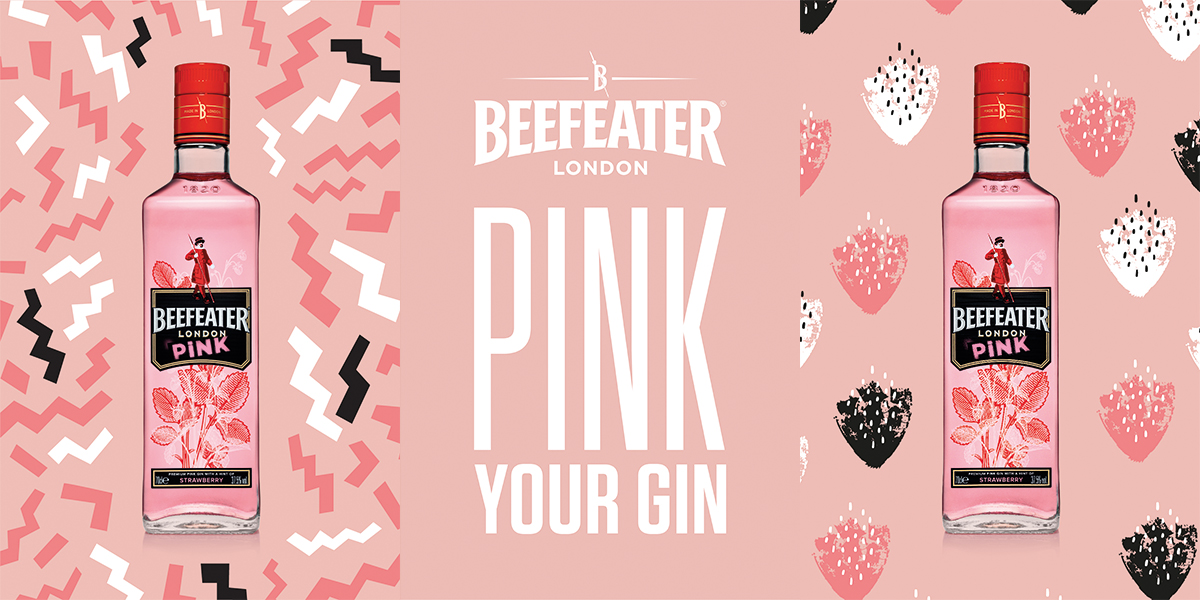Beefeater Pink OOH Series Posters and 6 Sheet Lockups