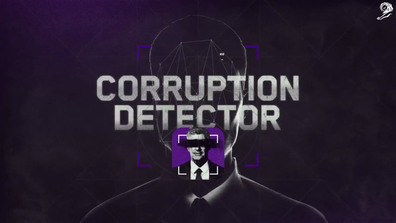 Corruption Detector - Cannes Mobile Lions Grand Prix