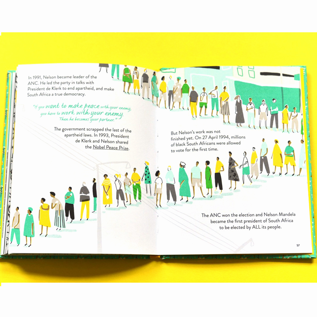 Hannah Warren illustrates Nelson Mandela's story
