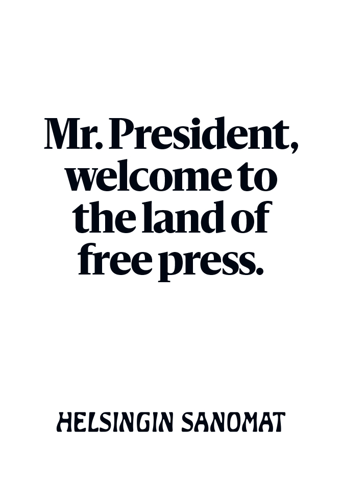 Helsingin Sanomat Trump Posters