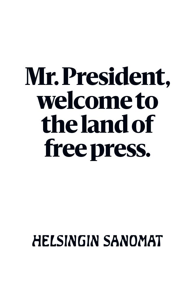 Helsingin Sanomat Trump Posters