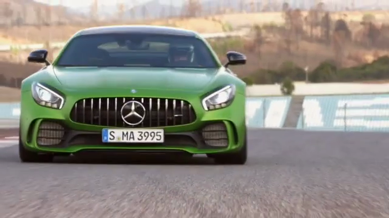 Mercedes AMG GTR Launch footage