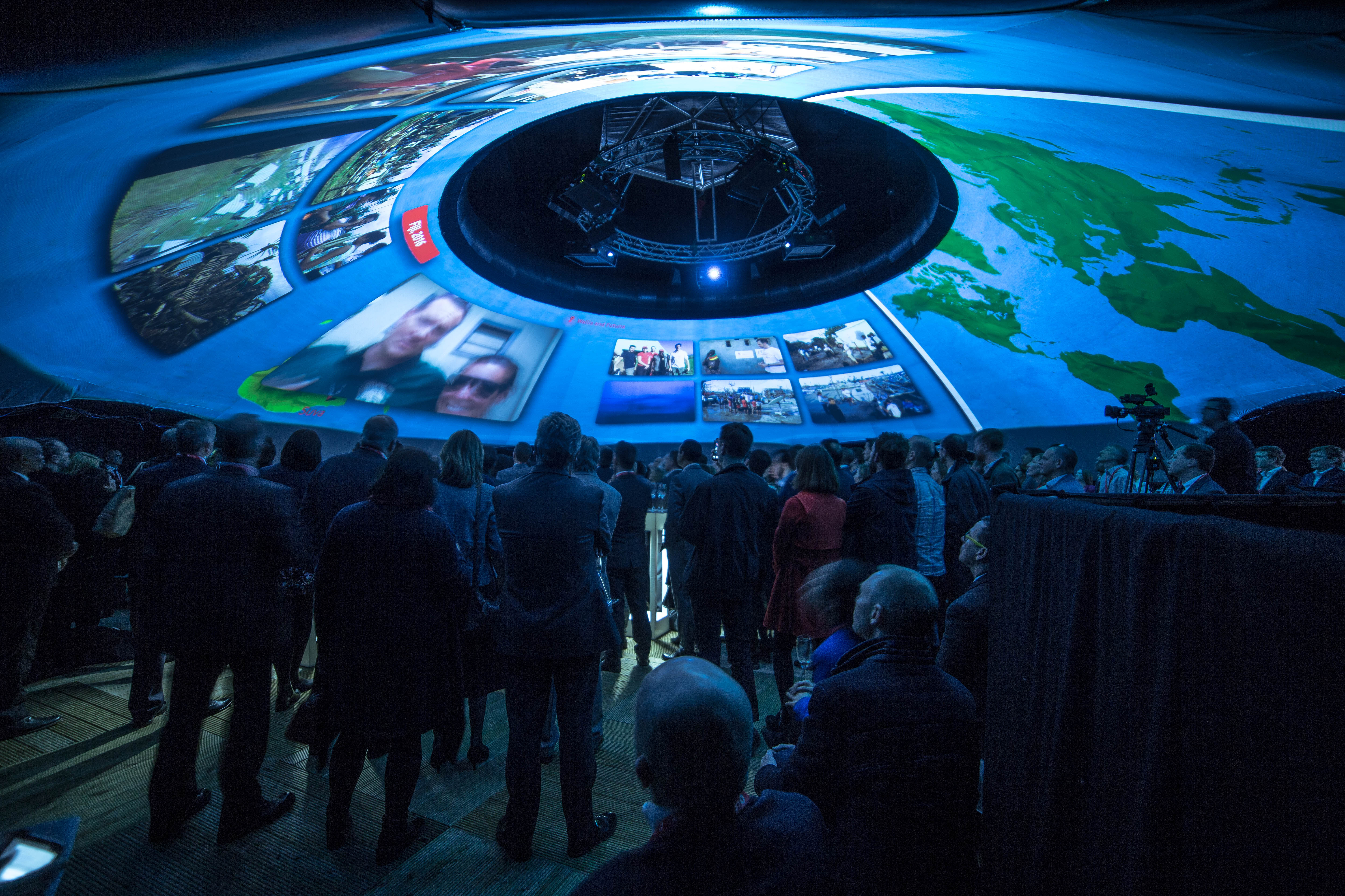 An Immersive Dome Experience for Vodafone Foundation