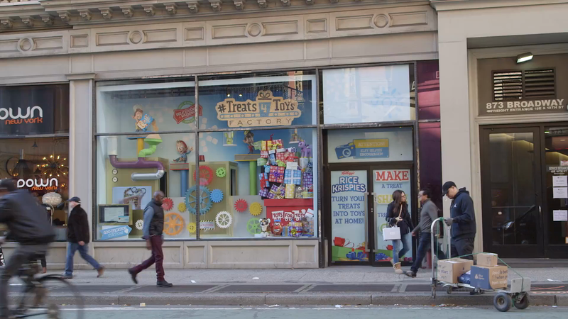 Kellogg's Activates Crafty, Cause-Driven Window Display for Rice Krispies