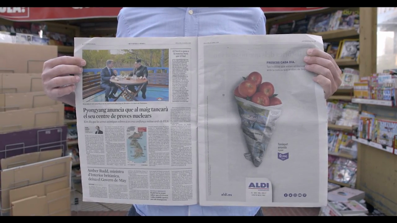 How Aldi's Freshest Print Campaign Delivered in Cannes | LBBOnline