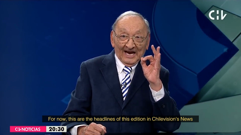 """""""The 88 year old Anchor"""" / """"El presentador de noticias de 88 años"""" - Las Rosas Foundation"""