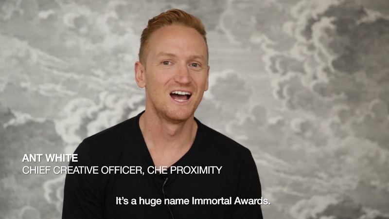 Defining Immortality - Ant White, Chief Creative Officer, CHE Proximity
