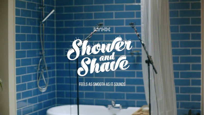 LYNX ASMR Shower and Shavetorials-support