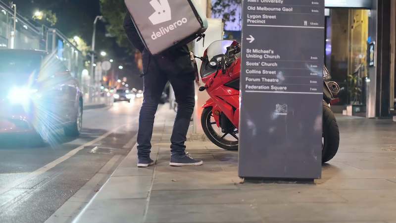Deliveroo Homeless Delivery-support