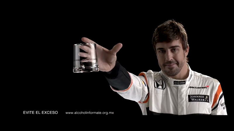 Johnny Walker - Fernando Alonso - The Glass car