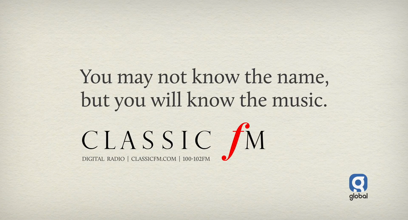 You may not know the name, but you will know the music - Classic FM